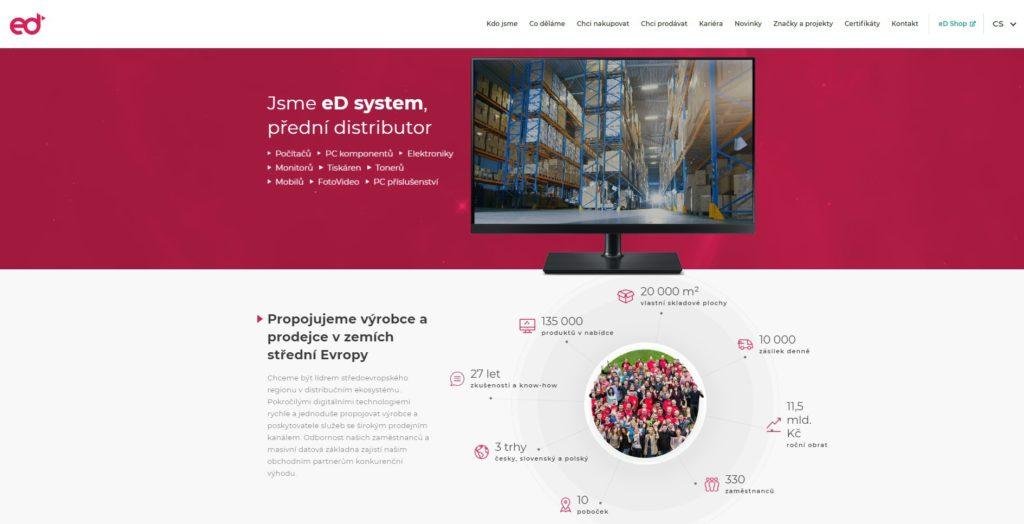 Nový web distributora eD system